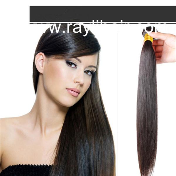 Silky Straight Natural Black Color Human Hair Weaving Rayli Hair